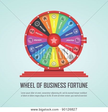 Wheel Of Fortune Infographic Design Element