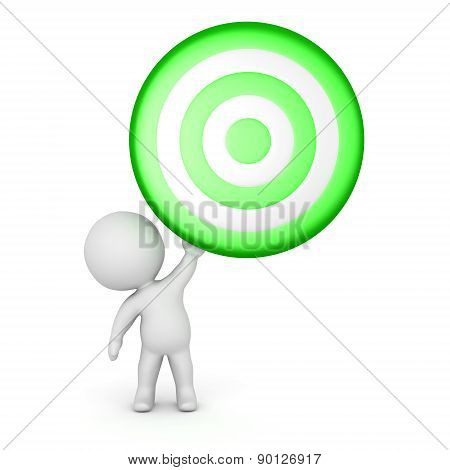 3D Character Holding Up Target