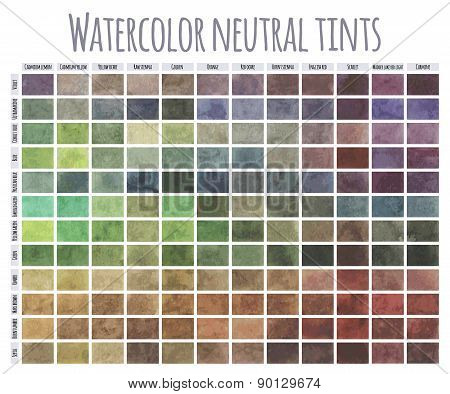 Watercolor Neutral tints