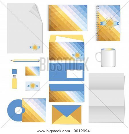 Corporate Identity. Stationery Template Design. Documentation For Business.
