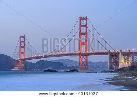 Sunset at Golden gate bridge , San Francisco