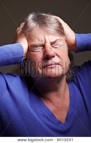 Senior Woman With Migraine