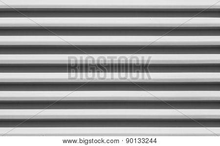 White corrugated metal