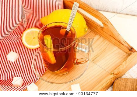 Ginger Tea With Lemon And Cinnamon