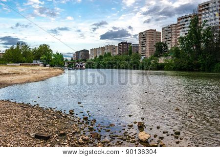 The Pisuerga River Passing Through Valladolid