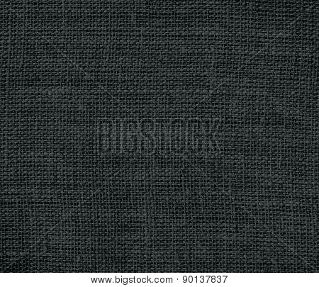 Charleston green color burlap texture background
