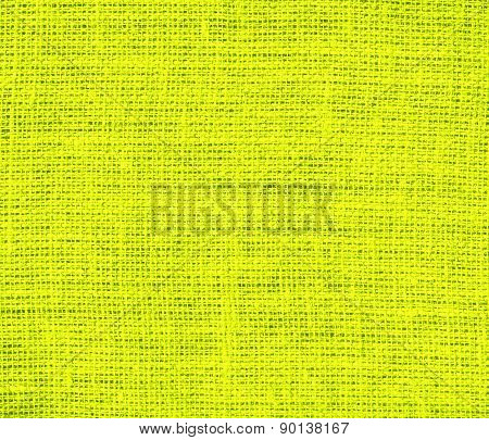 Chartreuse (traditional) color burlap texture background