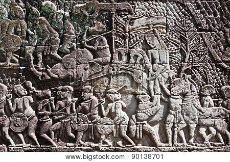 Elephant War Scene