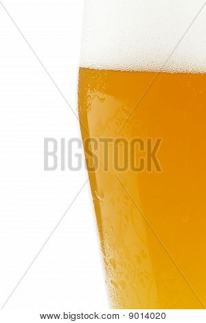 half wheat beer in a glass