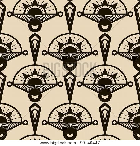 Seamless Antique Pattern Ornament. Geometric Art Deco Stylish Background. Vector Repeating Texture