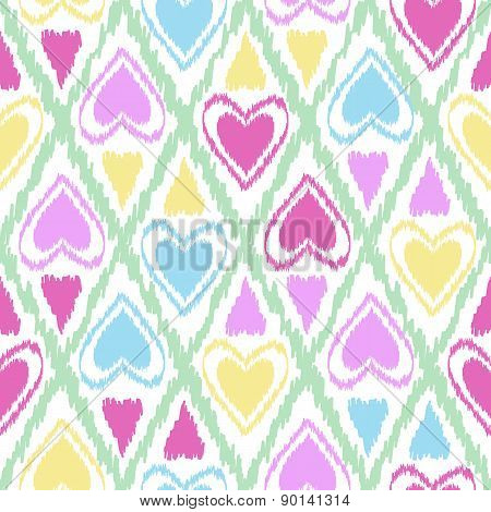 Seamless Scribble Bright Pastel Ornament Pattern Design Background