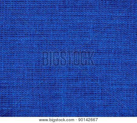 Cobalt blue color burlap texture background