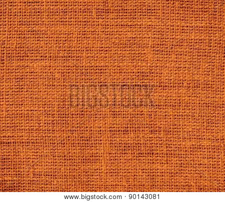 Cocoa brown color burlap texture background