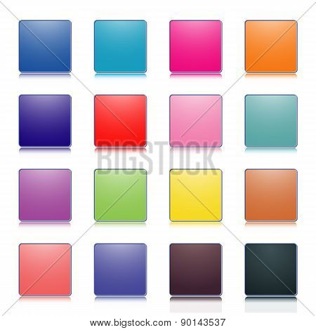 Colored Buttons, Vector Illustration