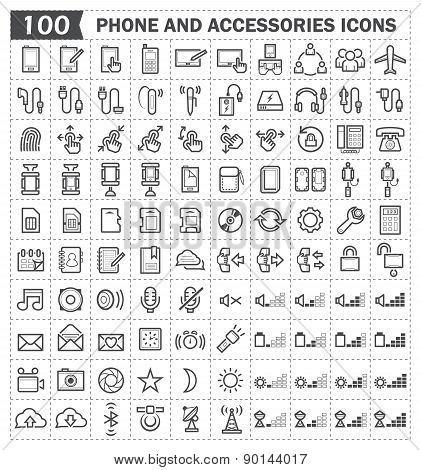 phone and accessories Icons