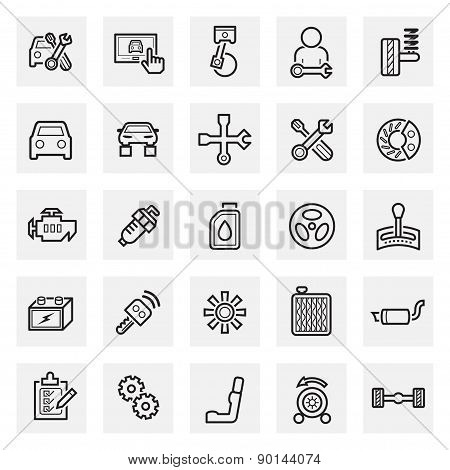 Car and accessories Icon