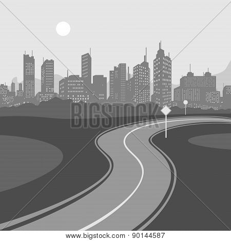 Road and City background