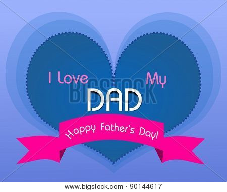 Happy Father's Day Heart Greeting Card