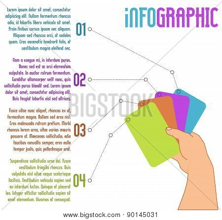 vector infographic design with four steps