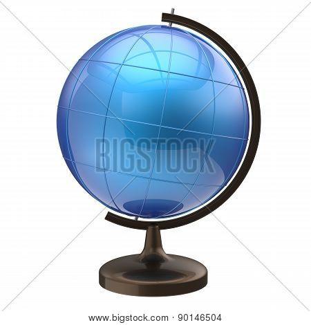 Blue Globe Blank Planet Earth International Global Geography