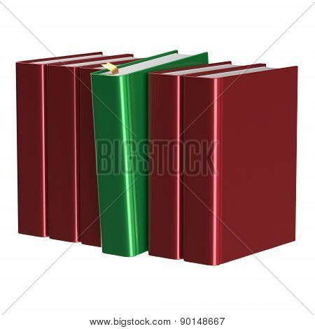 Red Books Row One Green Selected Choosing Leadership