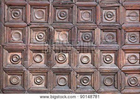 Fragment Of The Monza's Cathedral Wooden Door