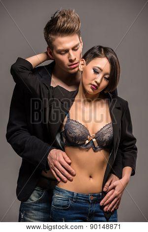 Fashion Portrait Of A Couple