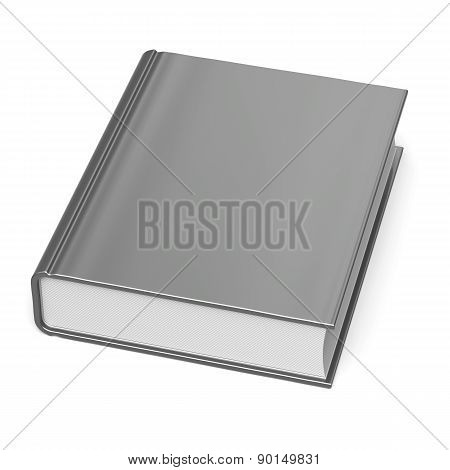 Blank Book Empty Clean Bookcase Single Template