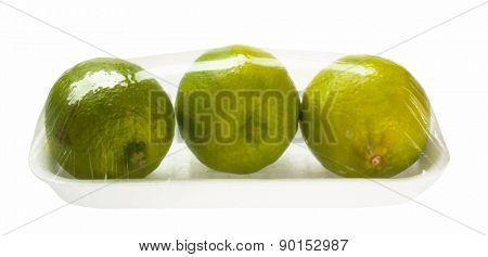 lime in vacuum packing, vector