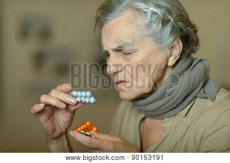 elderly sick woman