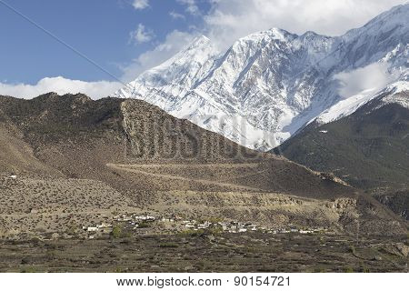 Jomsom City In Lower Mustang District, Nepal