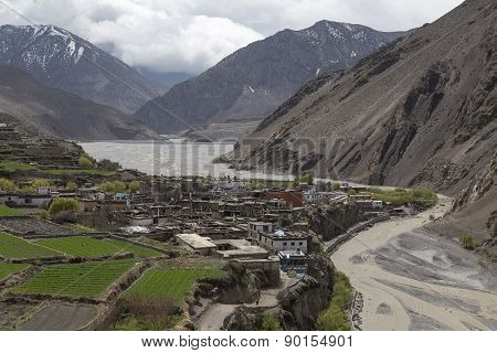 Local Houses At Kagbeni In Lower Mustang District, Nepal