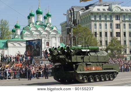 Buk missile system is a self-propelled medium-range surface-to-air. Victory Day Parade to commemorat