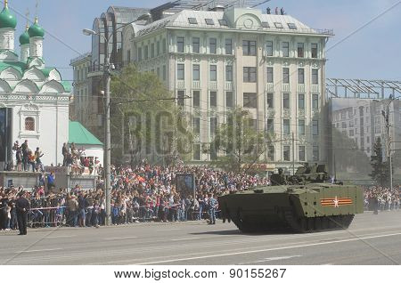 The Kurganets-25 is a tracked 25 ton modular platform. Moscow Victory Day Parade to commemorate the