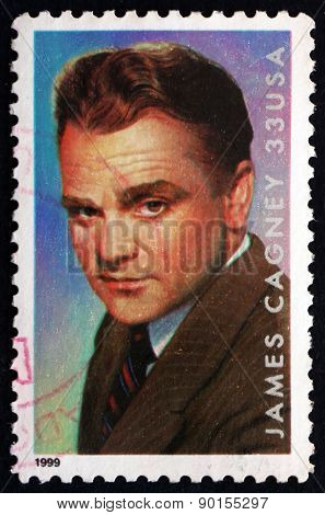 Postage Stamp Usa 1999 James Cagney, American Actor
