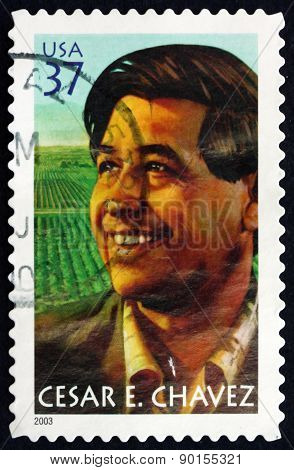 Postage Stamp Usa 2003 Cesar E. Chavez, Labor Leader