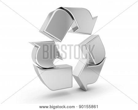 Silver Recycle Symbol