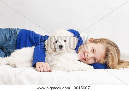 A girl with dog