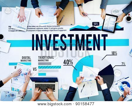 Investment Finance Bookkeeping Banking Profit Concept