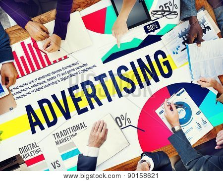Advertising Marketing Promotion Strategy Concept