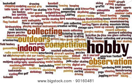 Hobby Word Cloud