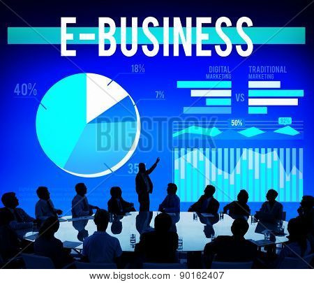 Ebusiness Marketing Ecommerce Business Concept