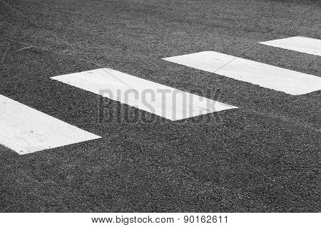 Pedestrian Crossing Road Marking, White Rectangles