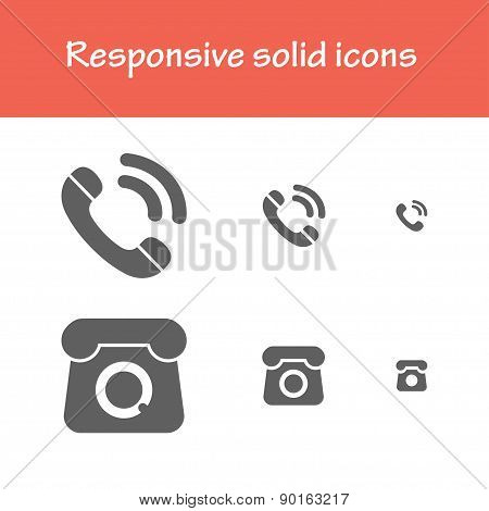 Responsive Solid Call Icons