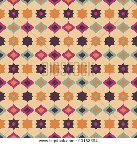 Seamless Retro Pattern Geometrical Texture Background
