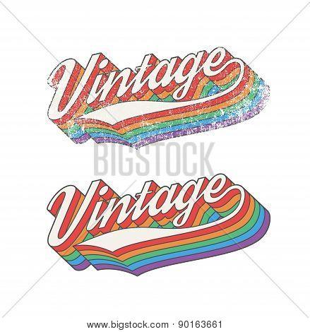 Colorful Vintage design
