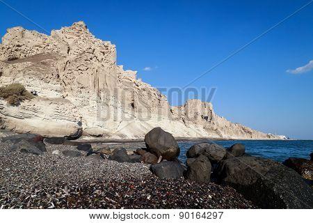 Vlychada beach in Santorini.