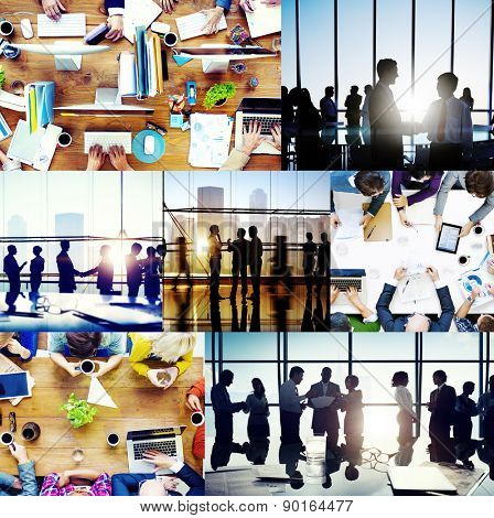 Business People Working Together Discussion Office Concept