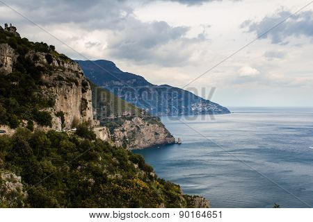 Beautiful coastline of Amalfi