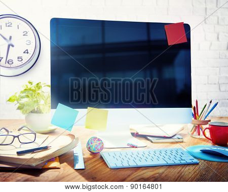 Contemporary Art Office Corporate Workplace Concept